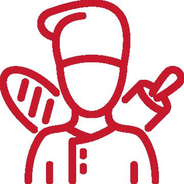BOULANGERIE PATISSERIE rouge