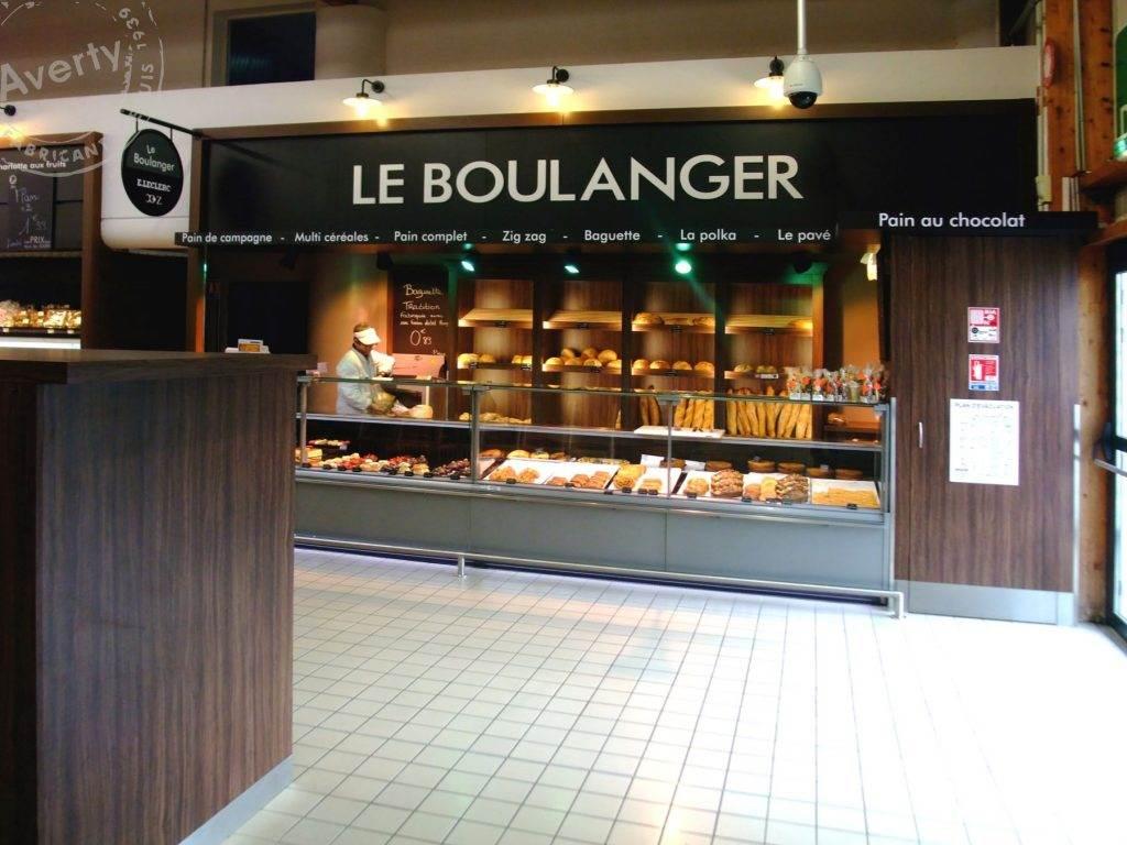 Leclerc Douarnenez boulangerie agencement averty